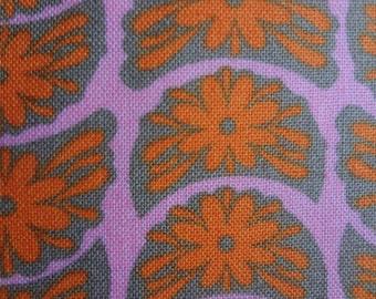 Anna Maria Horner for FreeSpirit / Crescent Bloom in Tangerine / 1 yard cut
