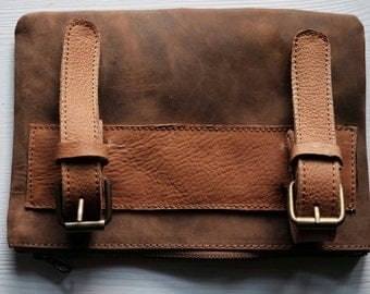 Bicycle leather bag-genuine leather bag for bicycle or motorcycle-bike sale-outlet