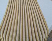 """Vintage Rag Rug Woven Rectangular Rug 56"""" L x 23 1/2""""  W Fringe"""