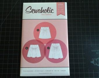 Skirt Pattern, Crescent, Sewaholic, Gathered, Yolked, Pockets, sewing pattern, pear shape figure, intermediate level