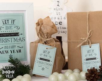 10 piece Christmas labels * let it be *.