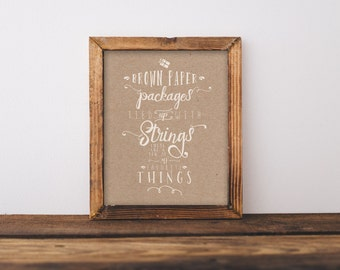 8 x 10 Brown Paper Packages (Print Only)