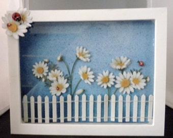 Daisy Garden Shadow Box