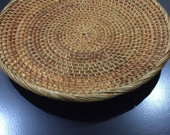 Handmade Vintage Rattan Tray