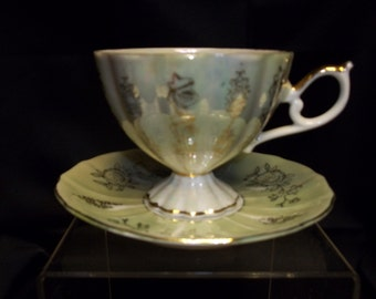 Bone China Cup and Saucer, Made in England - Vintage Item #2483