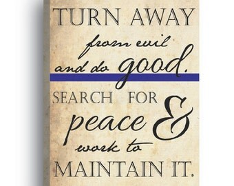 Wrapped Canvas- Maintain Peace Thin Blue Line