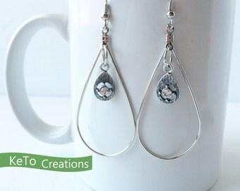 Teardrop Earrings, Silver Teardrop Earrings