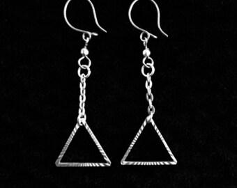 Pyramid earrings