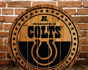INDIANAPOLIS COLTS SIGN  - Buy One - Get One - Free (Extended thru 2/7/16)