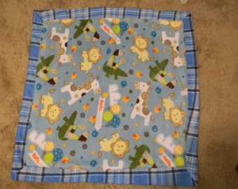 First Attempt **On Sale** Baby Boy Zoo Animals Blanket