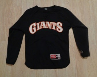 Vintage Rawlings San Francisco long sleeve Shirt size youth M (89) Black