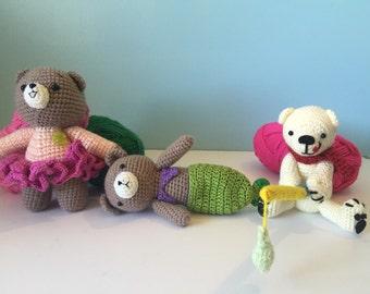 Teddy Bear amigurumi, plush bear