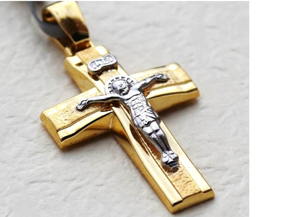 mens cross necklaces 14k yellow gold cross pendant by. Black Bedroom Furniture Sets. Home Design Ideas