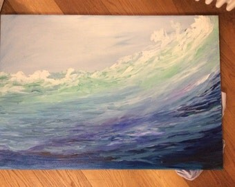 Large Canvas Art Oil Painting Ocean Oil Painting Seascape Paintings on Canvas Abstract Art Contemporary Art