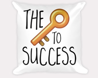 The key to success pillow cover