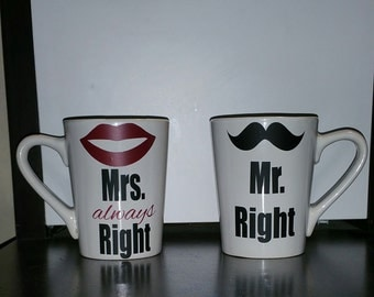 Mr & Mrs Coffee Cup