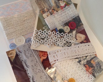 Assorted Lace on Cards. Pictures. Tatting.