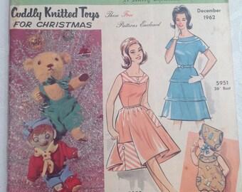 Australian Home Journal. December 1962. Recipes. Crochet. Sewing. Pattern.