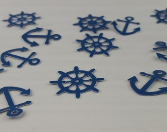 Nautical Baby Shower Decoration, Anchor Confetti, Anchor Party Decoration, Nautical  Table Decorations,