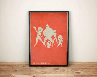 Poster Incredibles Poster art Wall art Office wall art Kids bedroom kids gift