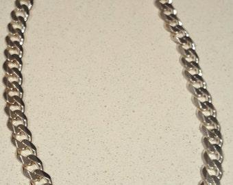 Hand designed Solid sterling silver link necklace.