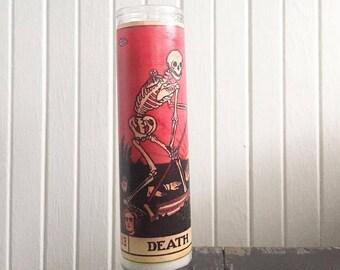 Death Tarot Card Prayer Candle