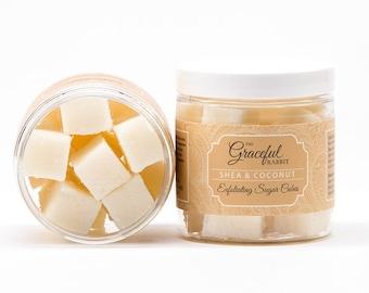 SHEA and COCONUT | Exfoliating Sugar Cubes | Shea | Mango Cocoa Butter | Avocado Oil | The Graceful Rabbit