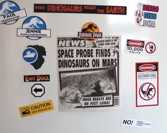 Jurassic Park Stickers/Magnets sheet Printables make your own PDF