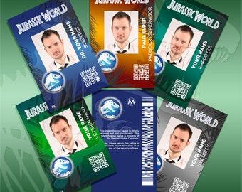 Jurassic World and ACU ID badge Customizable Digital Download