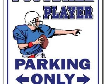 Football Player ~Sign~ Parking Fan Foot Ball Qb Gift