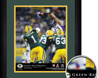 Green Bay Packers NFL Action Player Framed Personalized Football Sports  Home Decor 13x16 Inches Free Shipping
