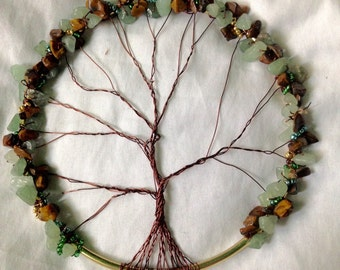 Aventurine and Tiger Eye Tree of Life