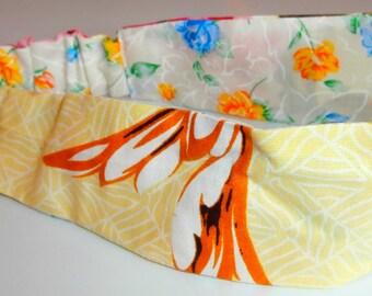 handmade summer reversable headband