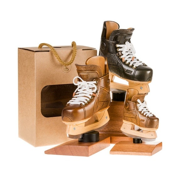 Unique sport gift. Wooden hockey ice skate. Gift for hockey