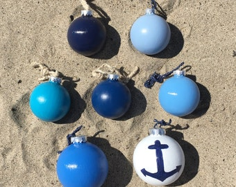 The Blue Collection - Coastal/Beach/Nautical Christmas Ornaments