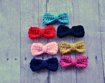 Crochet Bow/ Girls Hair Bow/ Baby Hair Bow/ Bow Hair Clip/ Handmade Bow/ Crochet Hair Bow