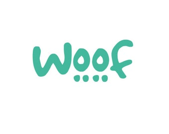 Dog, K9, Canine, puppy Pet woof vinyl car, truck, laptop decal