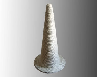 Handmade Huge Sisal Cat Scratching Post - The Wizard's Hat: Vanilla Edition - Choose Your Favourite Colour