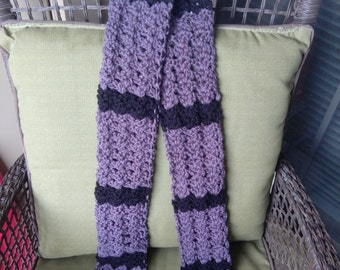 Black & Grey Fan Stitch Scarf