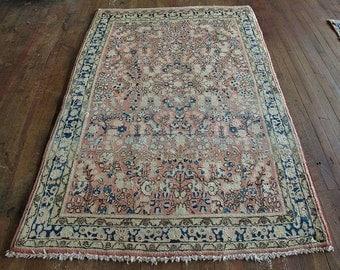 """Antique Persian Sarouk Rug 5'0""""x6'0"""" - Hunttrugs"""