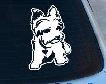 Yorkie Decal - I love my Yorkie sticker - Laptop - Macbook - Car Decal