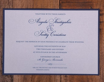 Navy Wedding Invitation, Traditional Invitation, navy Invitation, navy wedding invitations,  classy invitation, elegant invitations, invites