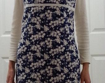 Apron Women's Blue Floral