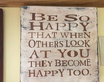 Be So Happy wall sign