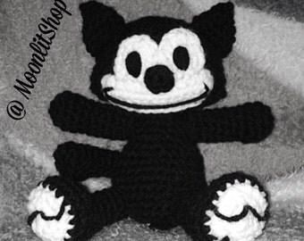 Crochet Felix the Cat Doll Pattern