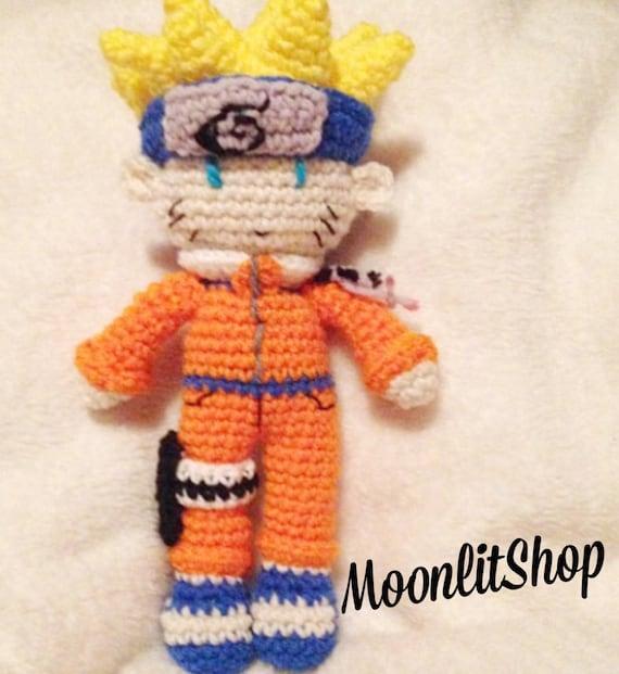Amigurumi Naruto Pattern : Naruto Inspired Crochet Naruto Uzumaki Amigurumi Doll English