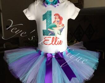 Little Mermaid First Birthday Tutu | Ariel First Birthday Tutu | 1st Birthday Tutu | Mermaid Birthday Tutu | First Birthday Outfit