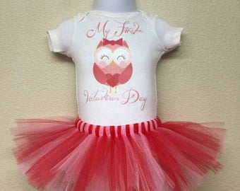 Owl My First Valentines Day Outfit | My 1st Valentine's Day Tutu