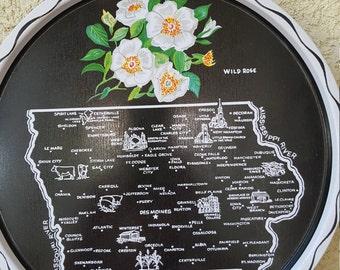Vintage 1960's State Tray- Iowa