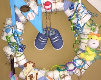 Diaper Wreath for Baby